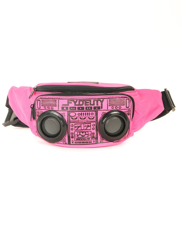 FYDELITY- FI-HI Bluetooth Speaker Bum Bag - Pink - Fydelity