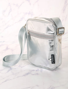 FYDELITY- Sidekick Brick Bag: Metallic Silver