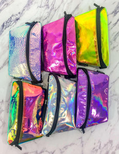 6 Mystery HOLOGRAPHIC Fanny Packs + FREE BONUS GIFT