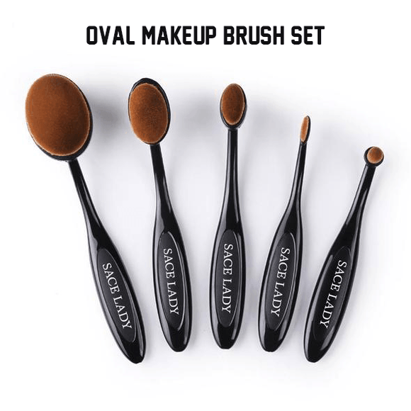 Oval Makeup Brush Set (5 PCS)