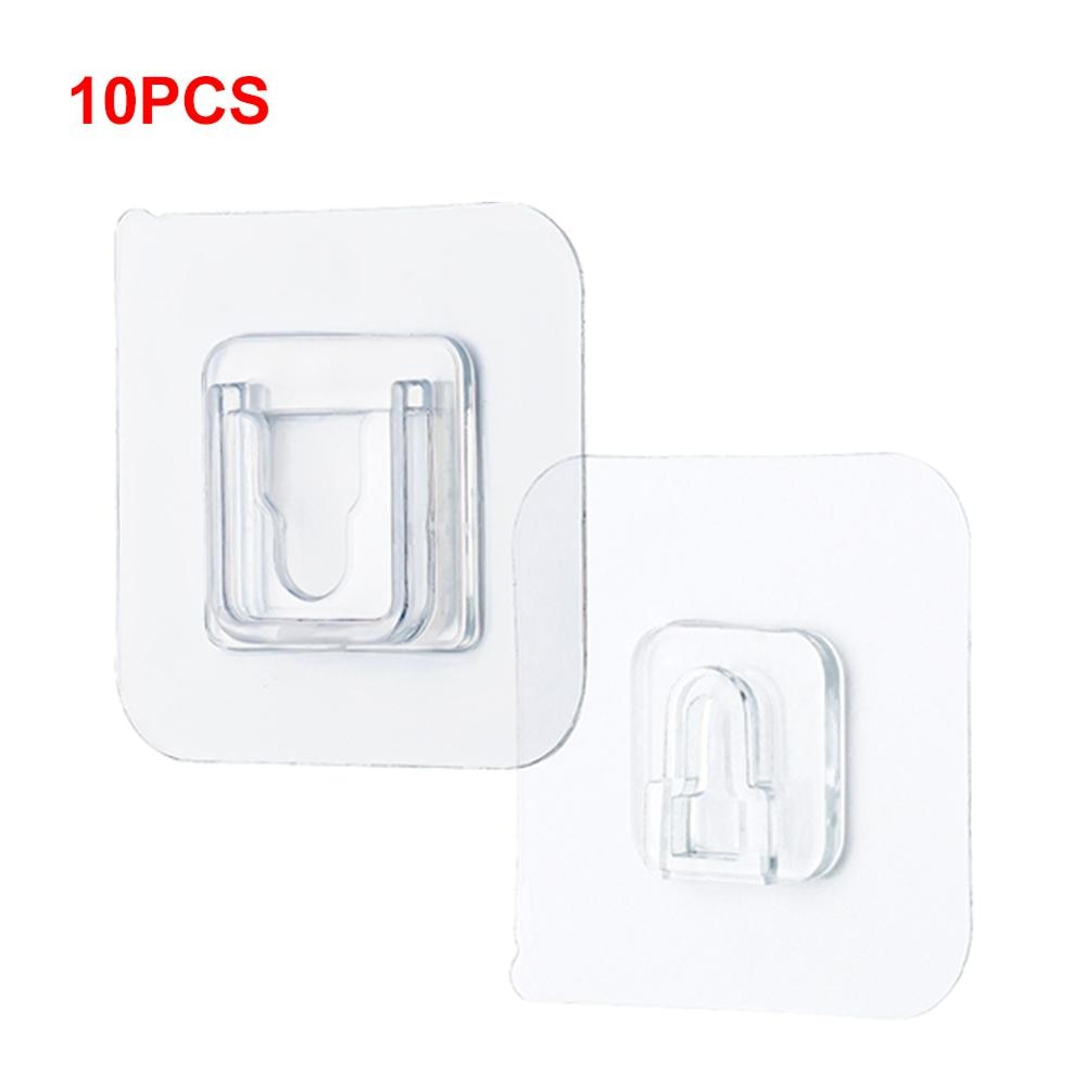 Double Sided Adhesive Wall Hooks Hanger Strong Transparent Hooks Suction Cup Sucker Wall Storage Holder Home Hook