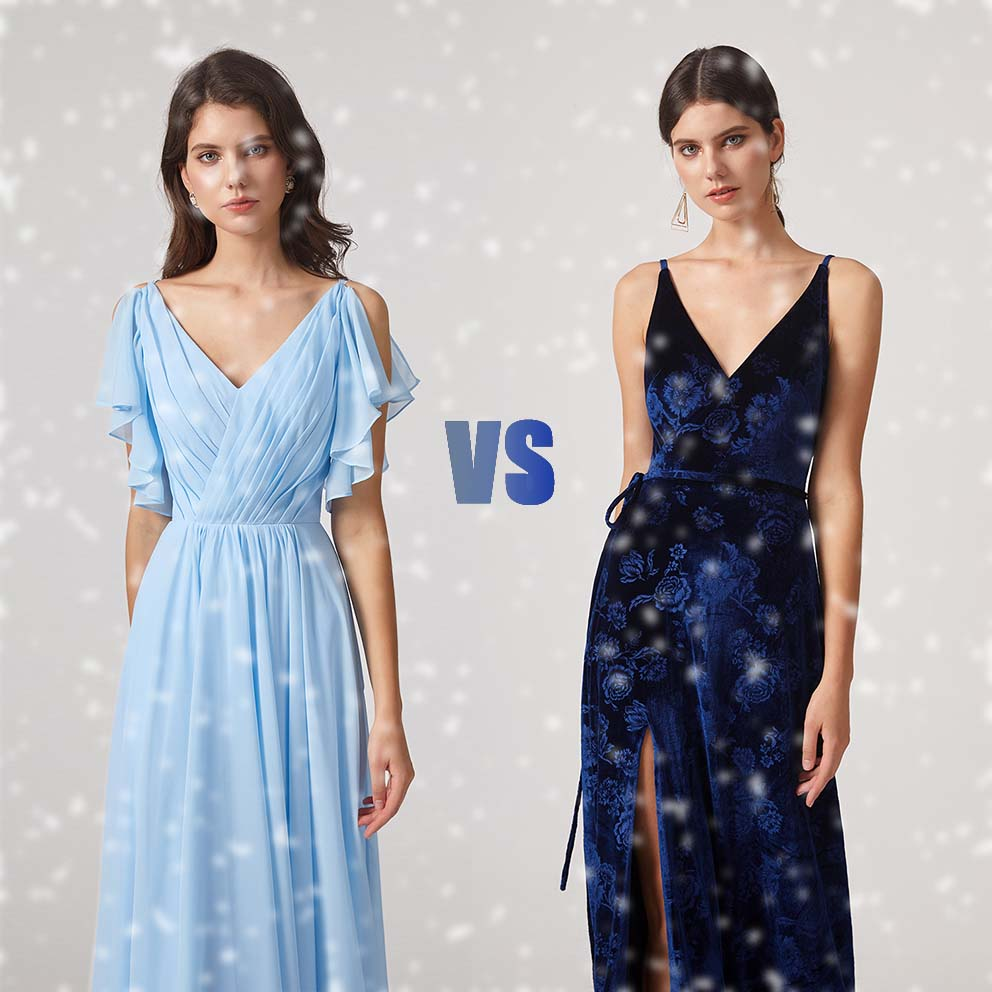 Chiffon or Velvet Bridesmaid Dresses for Winter?