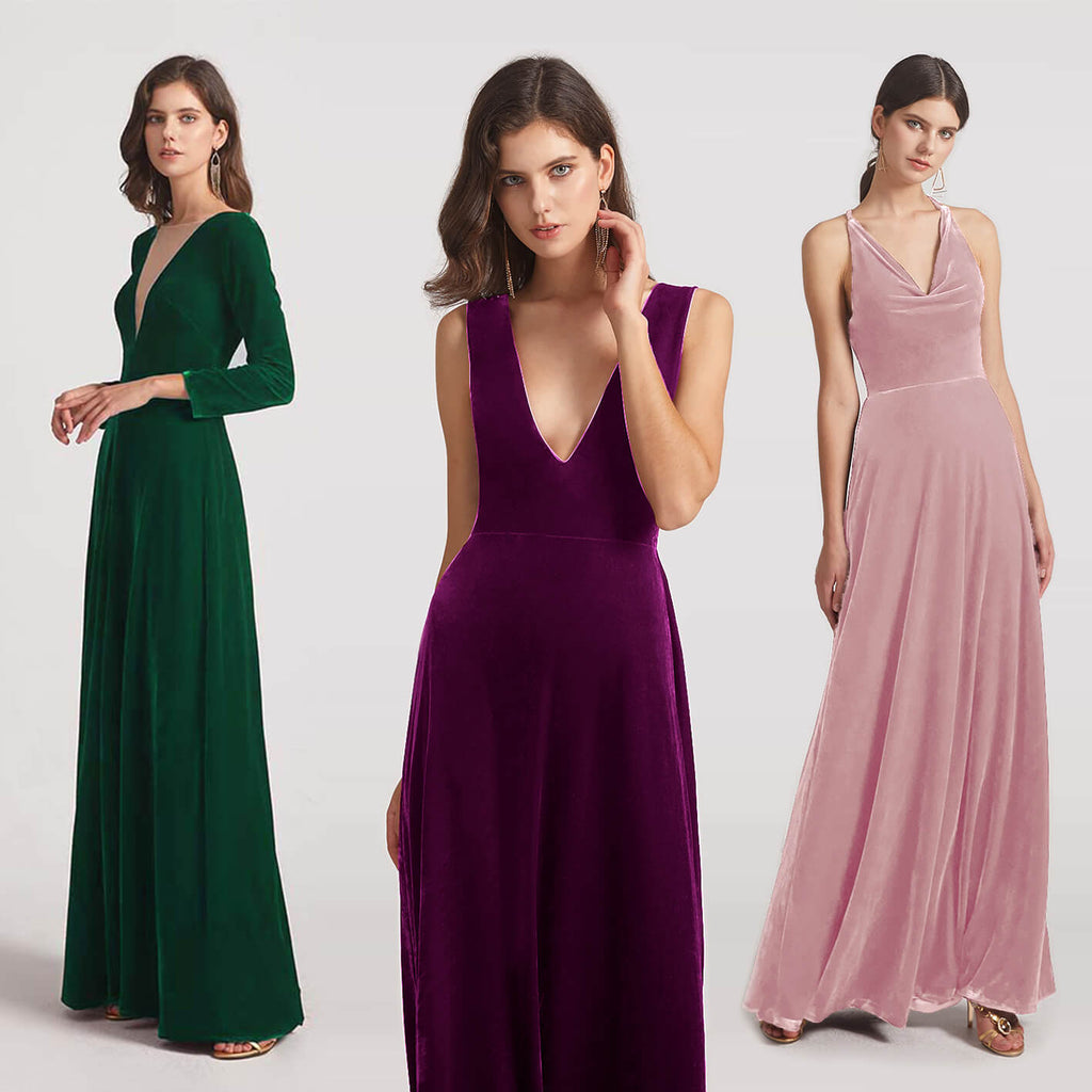 A Complete Guide to Velvet Bridesmaid Dresses