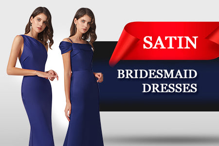 Alfa Bridal Satin Bridesmaid Gowns