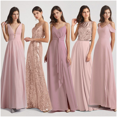 Different Color Bridesmaid Dresses Different Styles