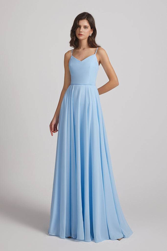 A-line formal unformal bridesmaid gowns