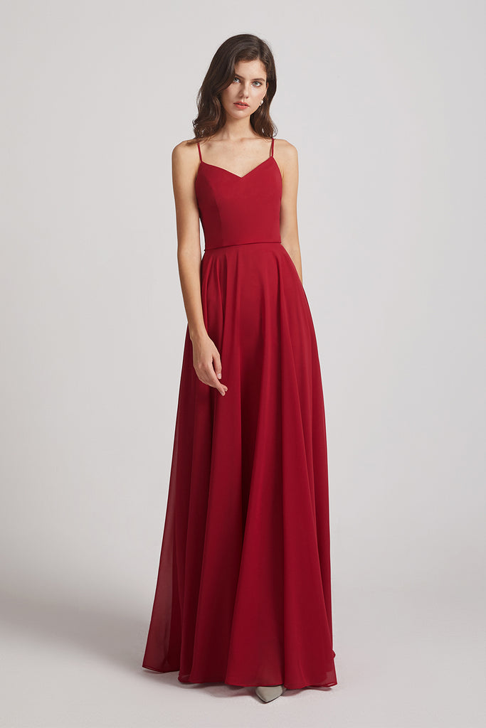 burgungy bridesmaids dress