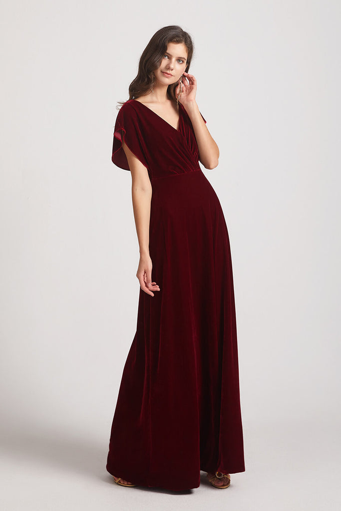 Plus Size Velvet Bridesmaid Dresses