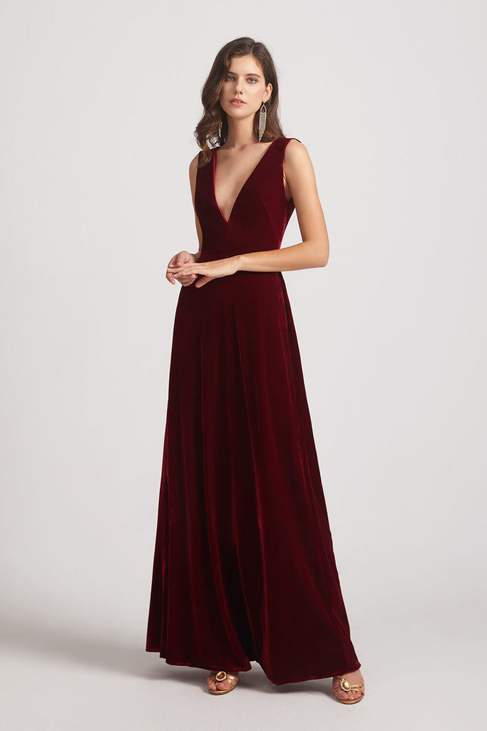 Winter Velvet Bridesmaid Dress