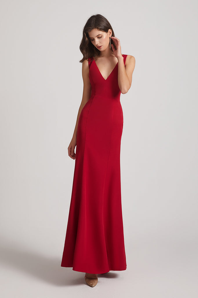 fit and flare bridesmaid dress