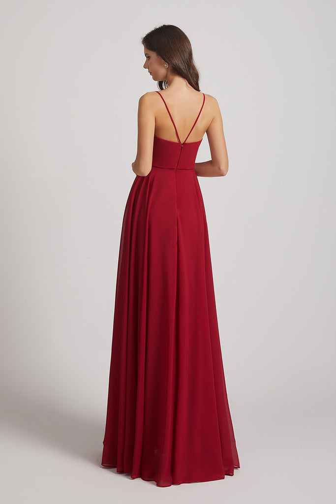 seductive backless bridesmaids dresses