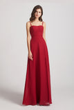 burgungy maids of honor dress