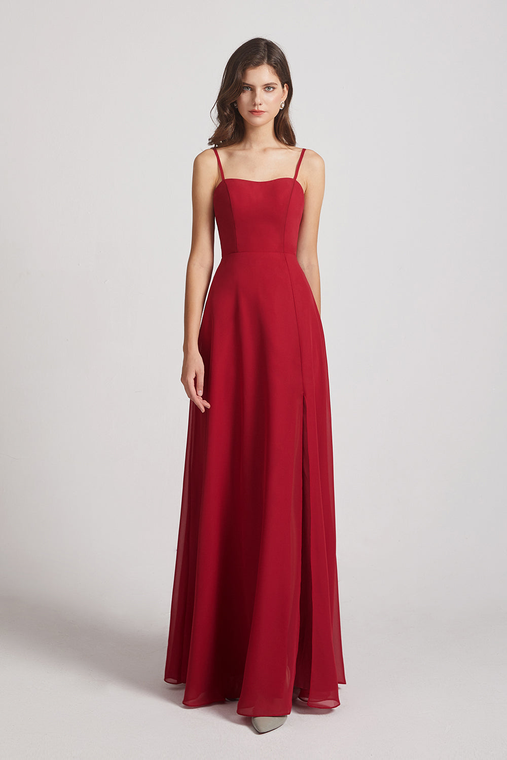 burgungy maids of honor dresses