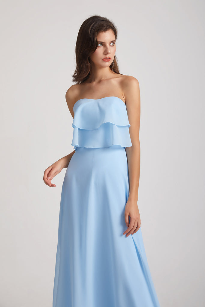 light blue bridesmaid gowns