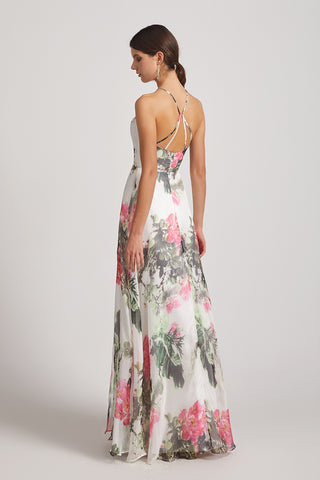 affordable floral bridesmaid dress maxi