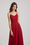 affordable floor length chiffon bridesmaids dresses