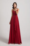 waist-tie Chiffon Bridesmaid Dresses
