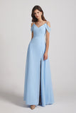 cold shoulder bridesmaid gown