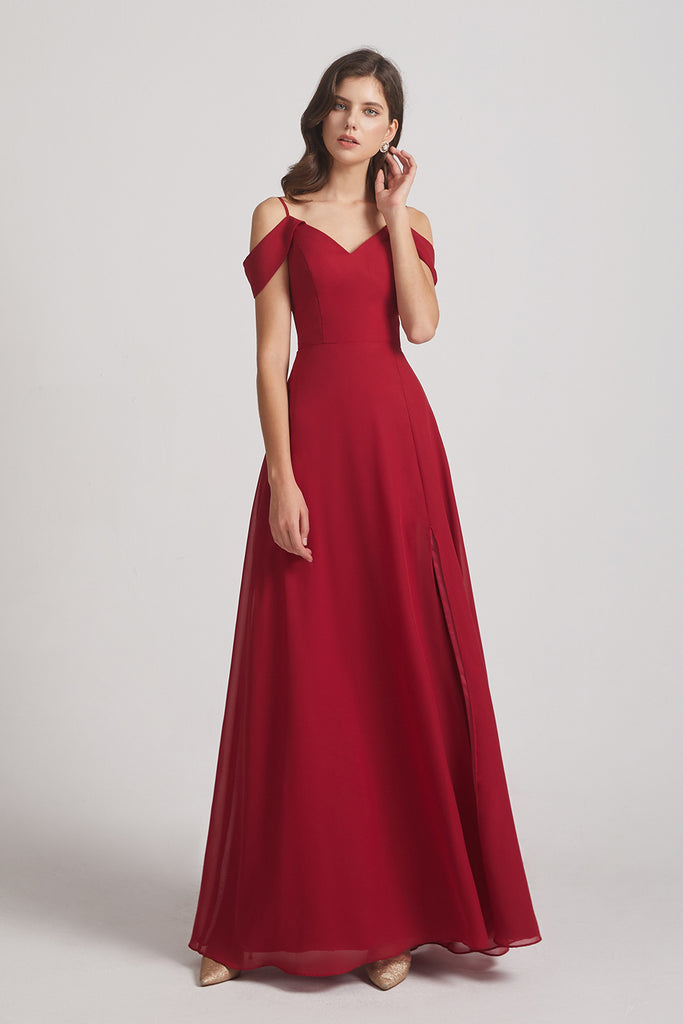 cold shoulder bridesmaid gowns