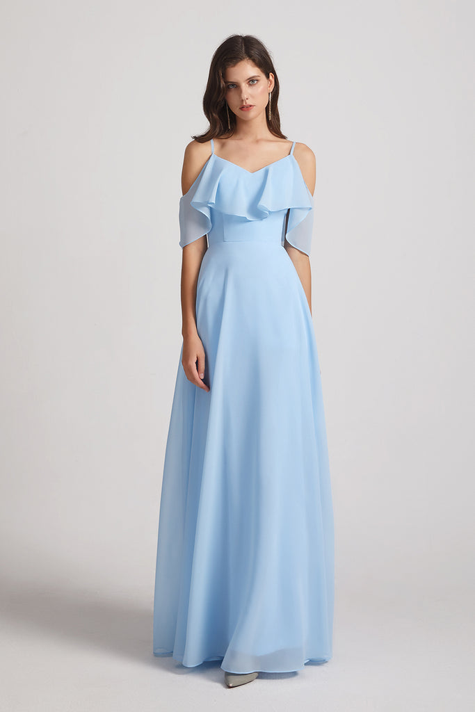 Baby Blue chiffon Bridesmaid dresses