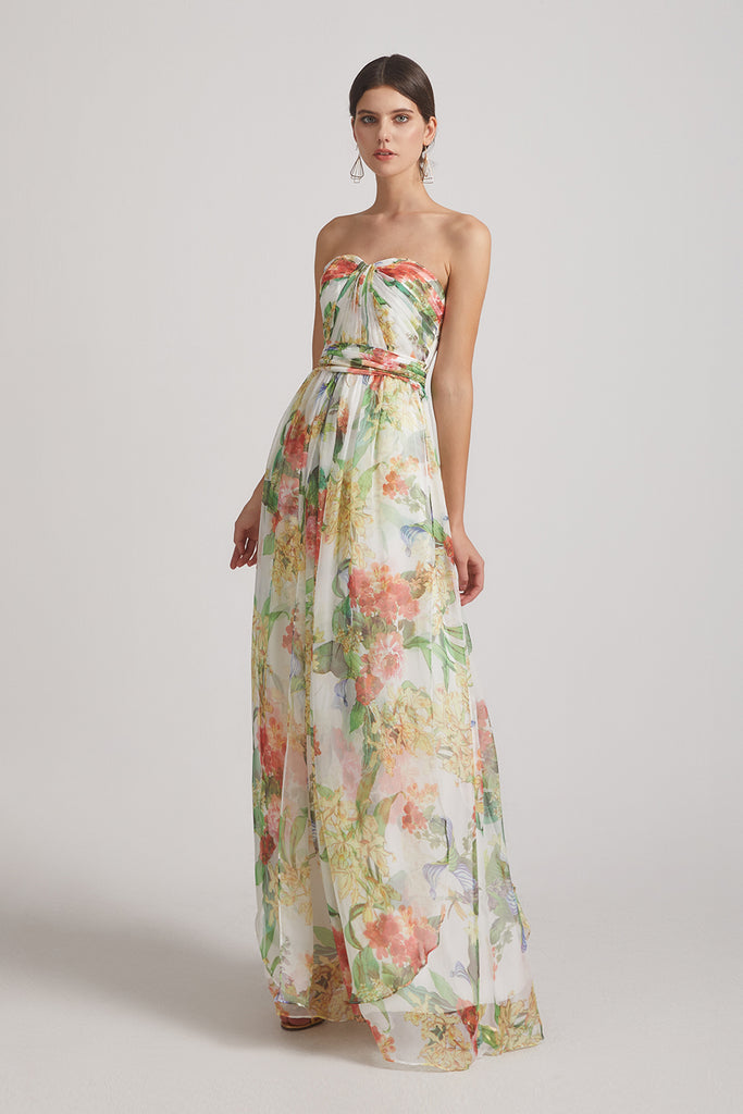 changeable floral bridesmaids dresses