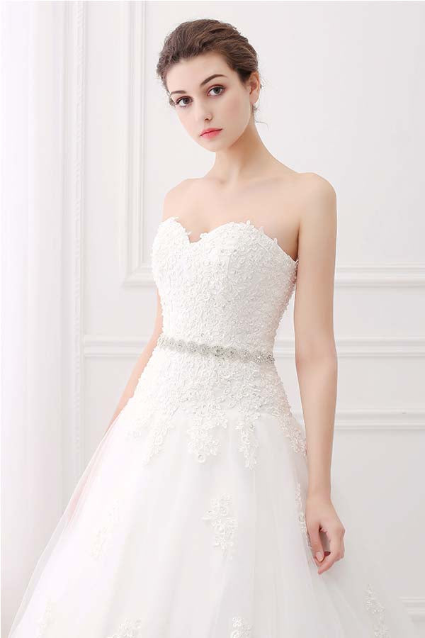 sweetheart strapless wedding dresses