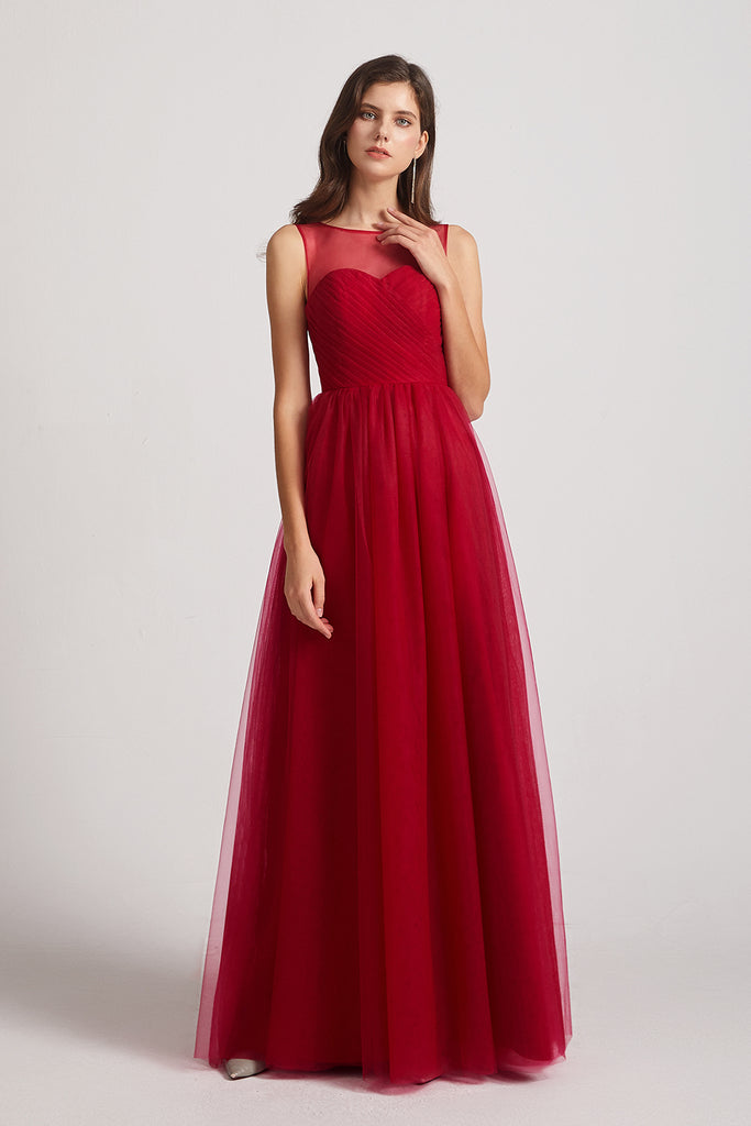 affordable high quality bridesmaid dresses in red
