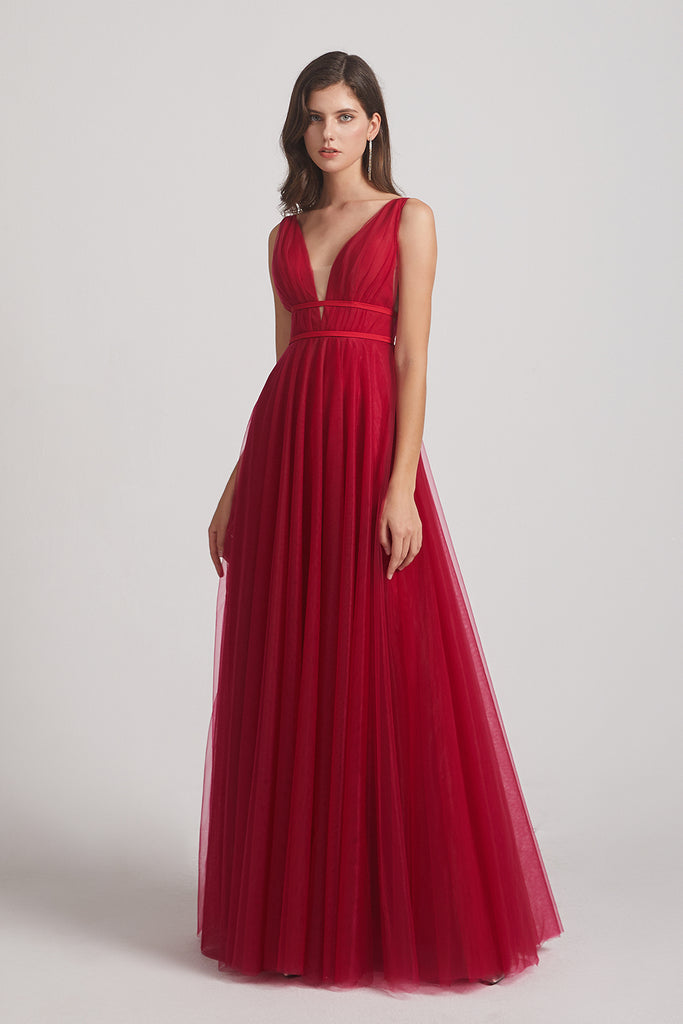 tulle sleeveless maxi dresses