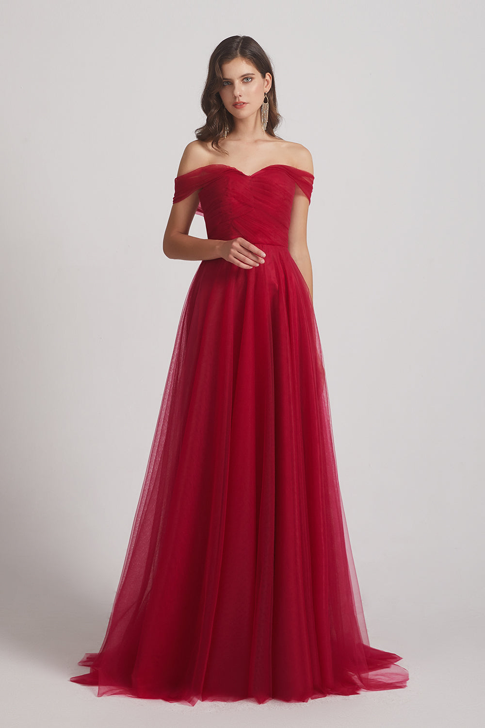 convertible a-line pleated bridesmaids gowns