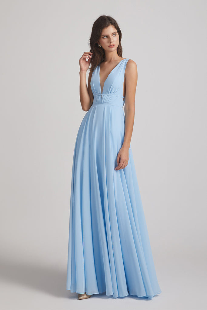 cut out chiffon maids of honor dresses