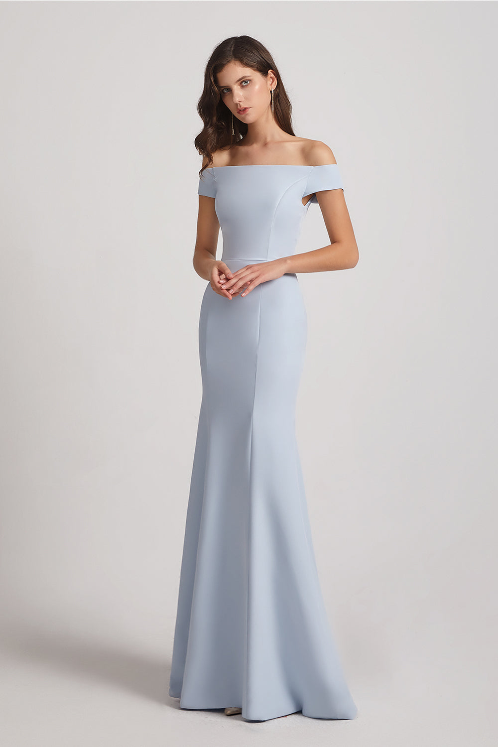 off the shoulder mermaid bridesmaid dresses