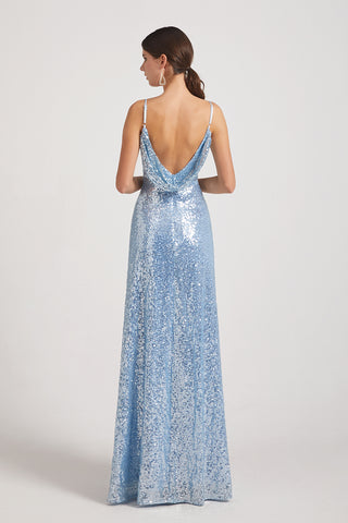 backless sequin bridesmaids dresses