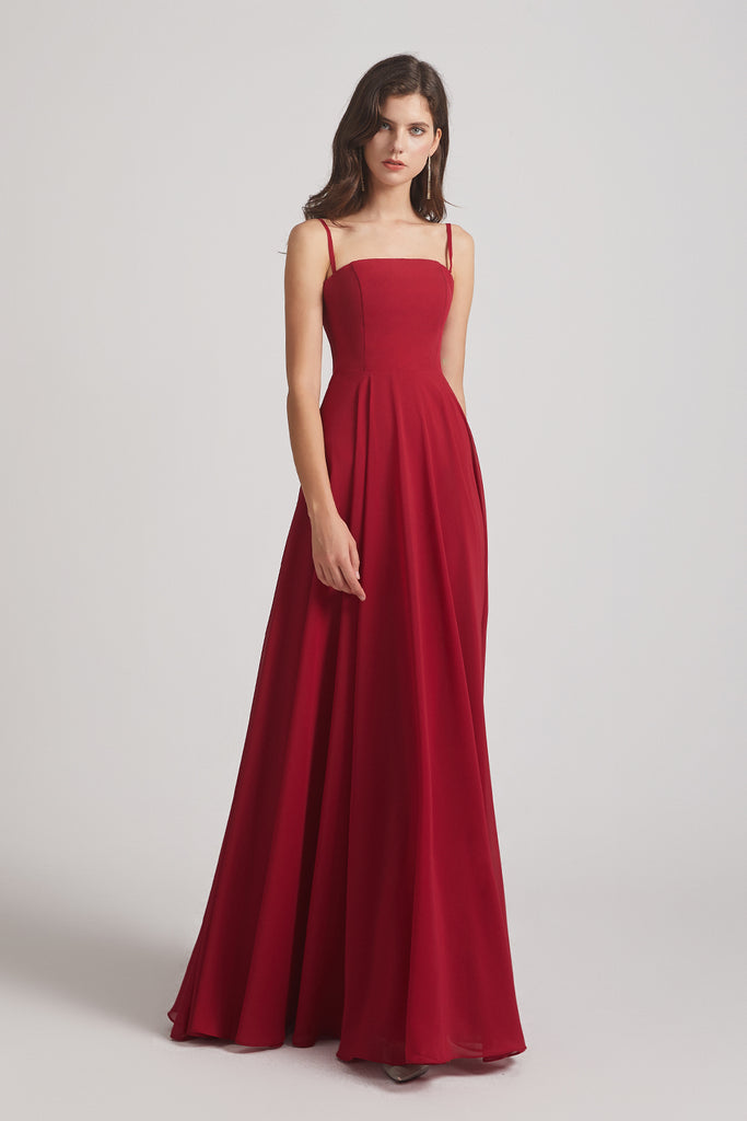 luxurious a-line bridesmaid dress