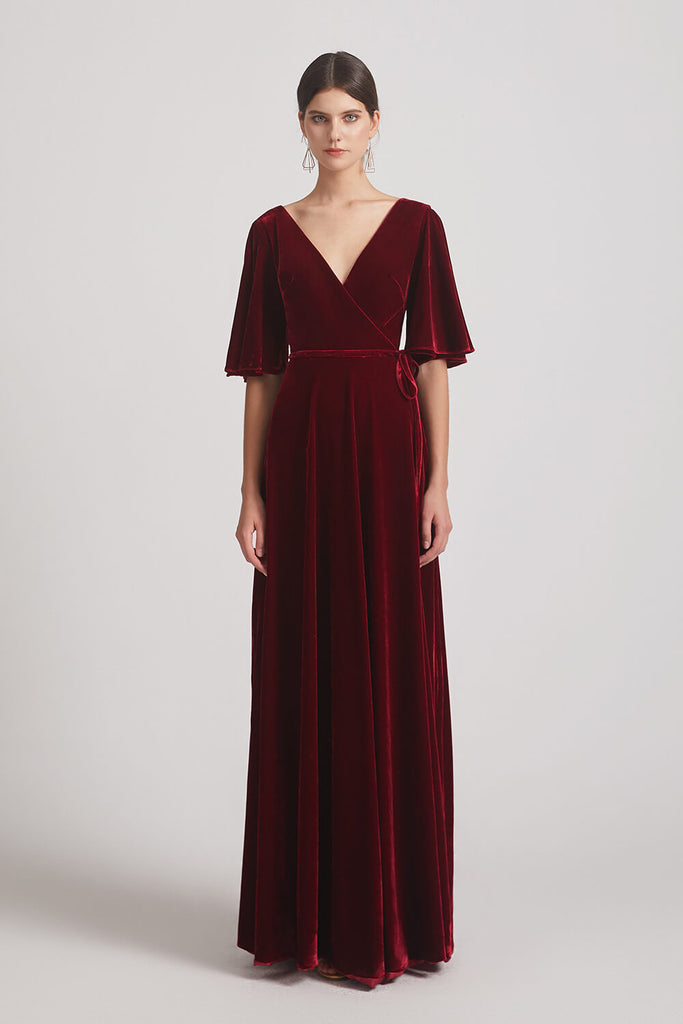 Elegant Velvet Bridesmaid Dresses