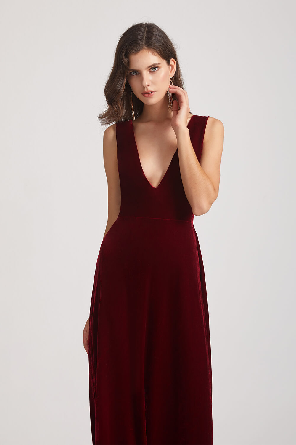 Sexy Velvet Bridesmaid Dress
