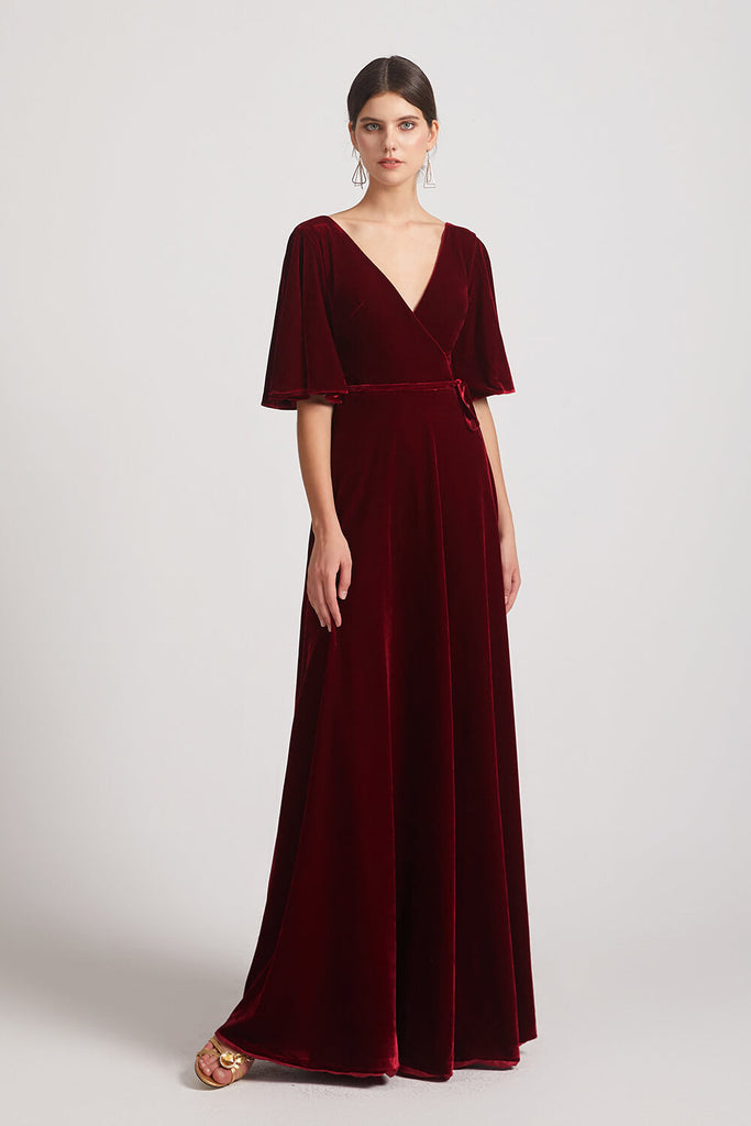 Wine Velvet Bridesmaid Dresses
