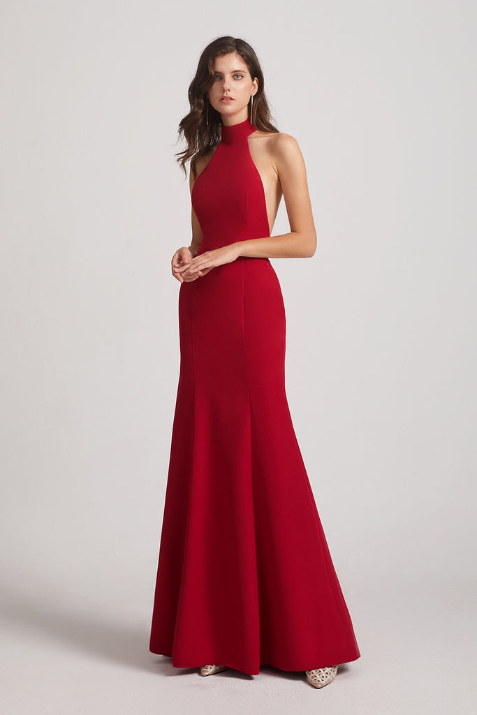 Backless Trumpet Gown