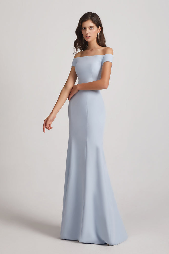 long fit and flare bridesmaids dresses