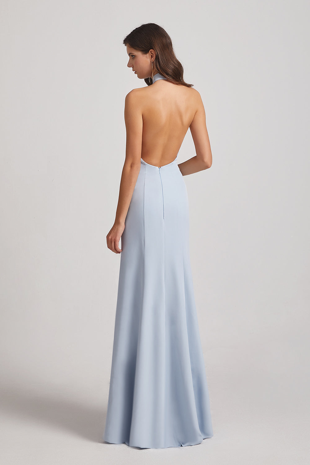 Backless High Neck Halter Bridesmaid Dresses