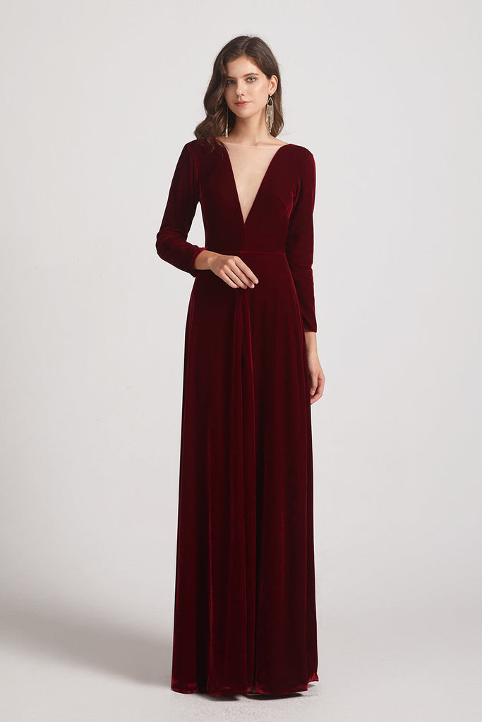 Stretch Velvet Bridesmaid Dresses 2021