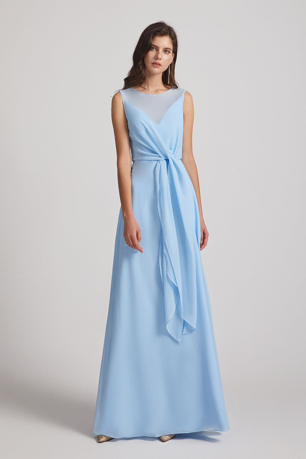 jewel chiffon bridesmaid gowns