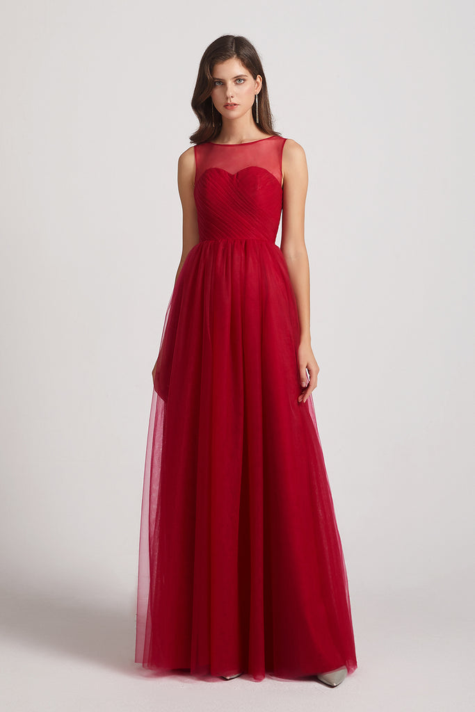 tulle bridesmaid dresses in burgundy