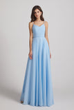 sky blue floor length patry dresses