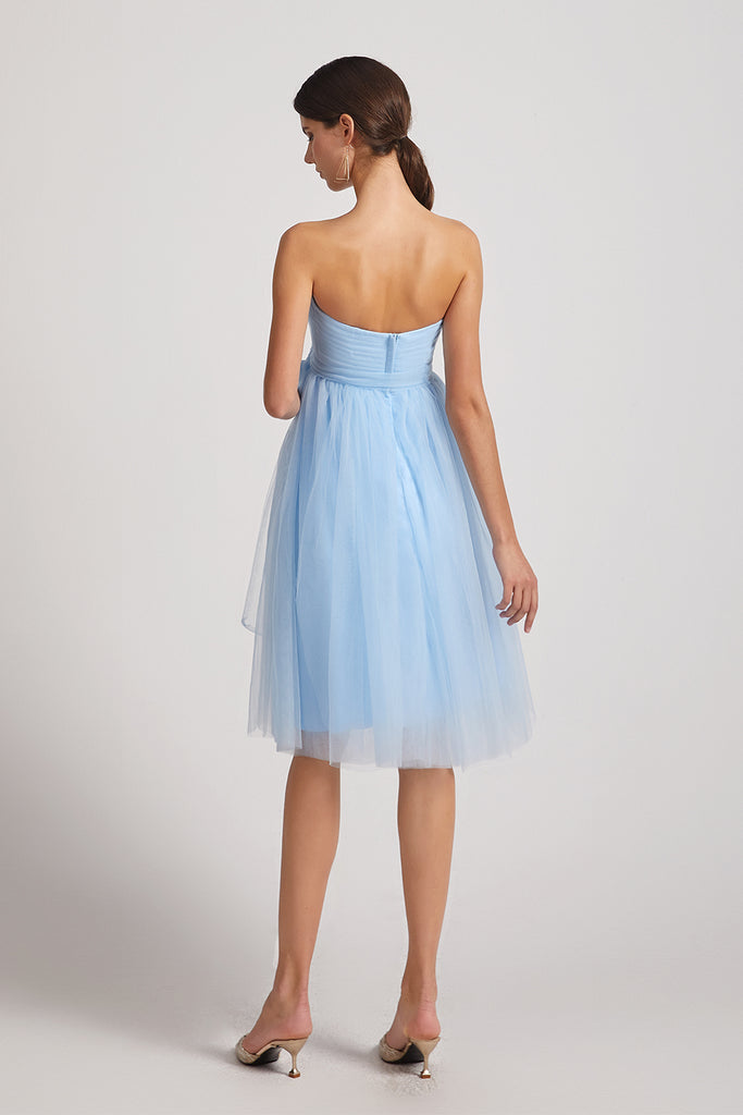 sleeveless tulle bridesmaid gowns