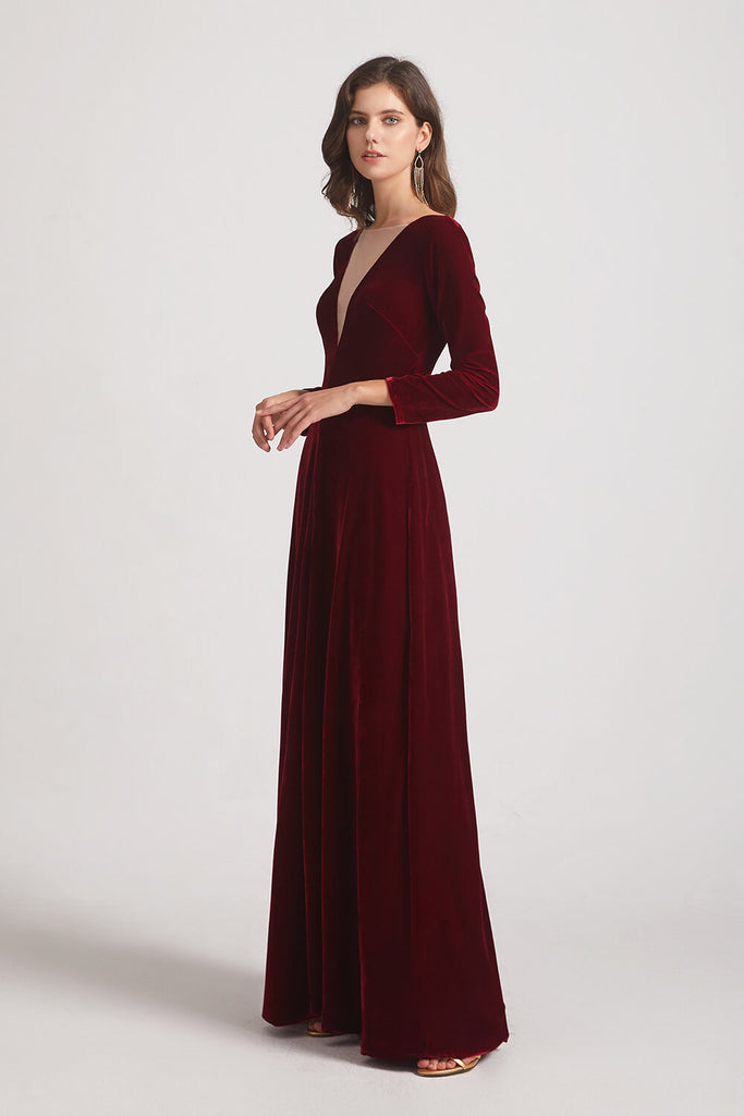 Burgundy Velvet Bridesmaid Dresses