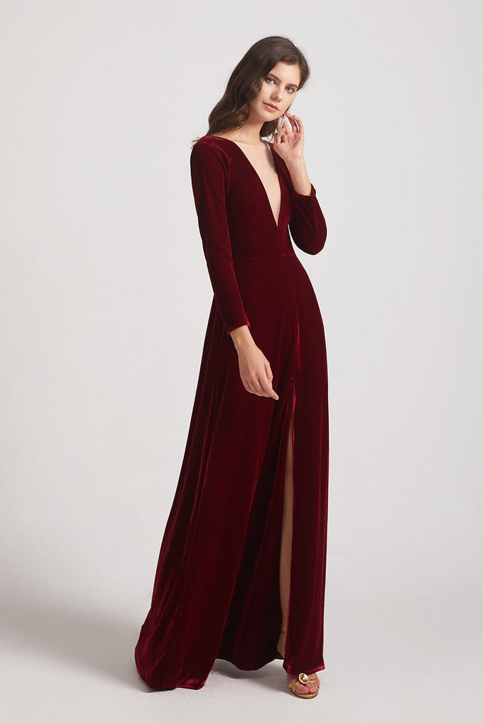 Vintage Velvet Bridesmaid Dresses