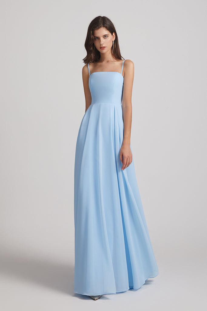 floor length a-line maid of honor dress