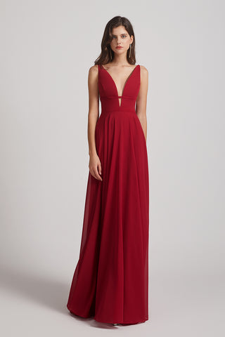 floor length chiffon gown