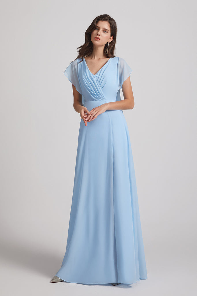 floor length maid of honor dresses
