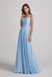 elegant pleated maids of honor dress